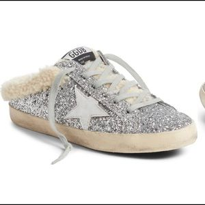 Golden Goose Genuine Shearling Superstar Sneaker